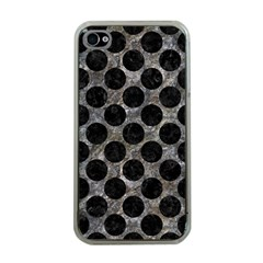 Circles2 Black Marble & Gray Stone (r) Apple Iphone 4 Case (clear)