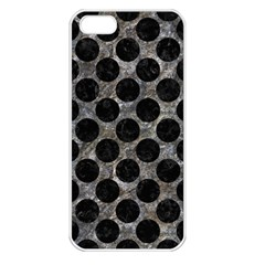 Circles2 Black Marble & Gray Stone (r) Apple Iphone 5 Seamless Case (white)