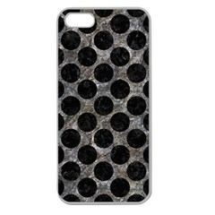 Circles2 Black Marble & Gray Stone (r) Apple Seamless Iphone 5 Case (clear)