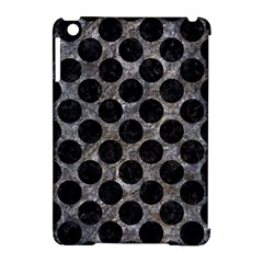 Circles2 Black Marble & Gray Stone (r) Apple Ipad Mini Hardshell Case (compatible With Smart Cover)