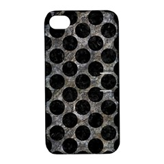 Circles2 Black Marble & Gray Stone (r) Apple Iphone 4/4s Hardshell Case With Stand