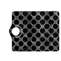 Circles2 Black Marble & Gray Stone (r) Kindle Fire Hdx 8 9  Flip 360 Case