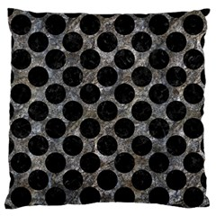 Circles2 Black Marble & Gray Stone (r) Standard Flano Cushion Case (one Side)