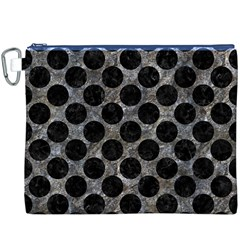 Circles2 Black Marble & Gray Stone (r) Canvas Cosmetic Bag (xxxl)