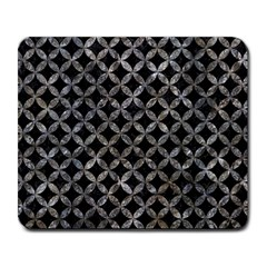 Circles3 Black Marble & Gray Stone Large Mousepads
