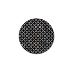 Circles3 Black Marble & Gray Stone Golf Ball Marker (10 Pack)