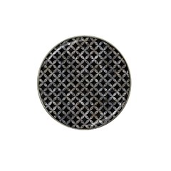 Circles3 Black Marble & Gray Stone Hat Clip Ball Marker (4 Pack)