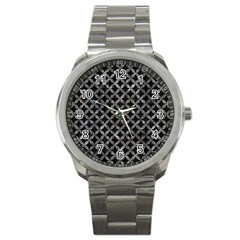 Circles3 Black Marble & Gray Stone Sport Metal Watch