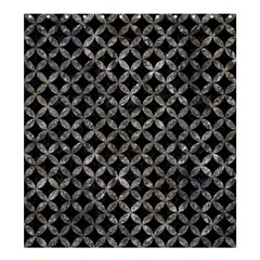 Circles3 Black Marble & Gray Stone Shower Curtain 66  X 72  (large)