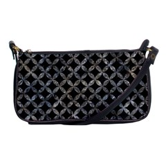 Circles3 Black Marble & Gray Stone Shoulder Clutch Bags