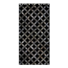 Circles3 Black Marble & Gray Stone Shower Curtain 36  X 72  (stall)
