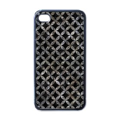 Circles3 Black Marble & Gray Stone Apple Iphone 4 Case (black)