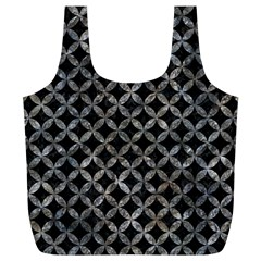Circles3 Black Marble & Gray Stone Full Print Recycle Bags (l)