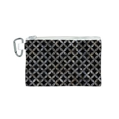 Circles3 Black Marble & Gray Stone Canvas Cosmetic Bag (s)
