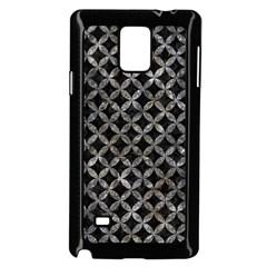 Circles3 Black Marble & Gray Stone Samsung Galaxy Note 4 Case (black)
