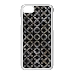 Circles3 Black Marble & Gray Stone Apple Iphone 7 Seamless Case (white)