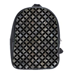 Circles3 Black Marble & Gray Stone (r) School Bag (large)