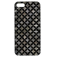 Circles3 Black Marble & Gray Stone (r) Apple Iphone 5 Hardshell Case With Stand