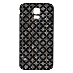 Circles3 Black Marble & Gray Stone (r) Samsung Galaxy S5 Back Case (white)
