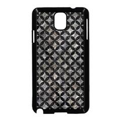Circles3 Black Marble & Gray Stone (r) Samsung Galaxy Note 3 Neo Hardshell Case (black)