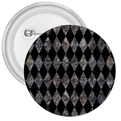 Diamond1 Black Marble & Gray Stone 3  Buttons