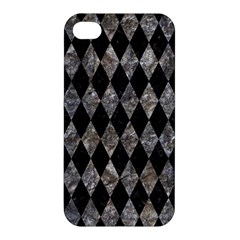 Diamond1 Black Marble & Gray Stone Apple Iphone 4/4s Hardshell Case