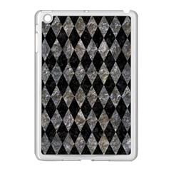 Diamond1 Black Marble & Gray Stone Apple Ipad Mini Case (white)