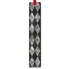 Diamond1 Black Marble & Gray Stone Large Book Marks