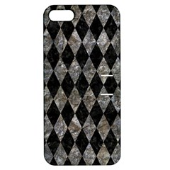 Diamond1 Black Marble & Gray Stone Apple Iphone 5 Hardshell Case With Stand