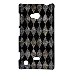 Diamond1 Black Marble & Gray Stone Nokia Lumia 720