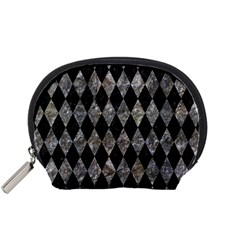 Diamond1 Black Marble & Gray Stone Accessory Pouches (small)