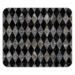 Diamond1 Black Marble & Gray Stone Double Sided Flano Blanket (small)