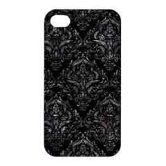 Damask1 Black Marble & Gray Stone Apple Iphone 4/4s Hardshell Case