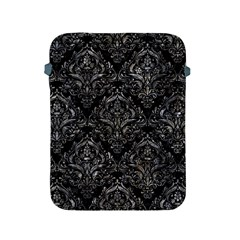 Damask1 Black Marble & Gray Stone Apple Ipad 2/3/4 Protective Soft Cases
