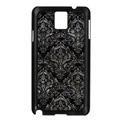Damask1 Black Marble & Gray Stone Samsung Galaxy Note 3 N9005 Case (black)