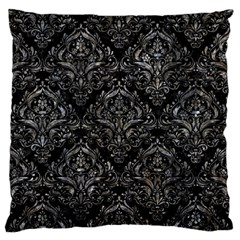 Damask1 Black Marble & Gray Stone Standard Flano Cushion Case (two Sides)