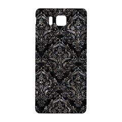 Damask1 Black Marble & Gray Stone Samsung Galaxy Alpha Hardshell Back Case