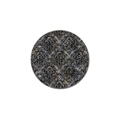 Damask1 Black Marble & Gray Stone (r) Golf Ball Marker