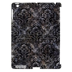 Damask1 Black Marble & Gray Stone (r) Apple Ipad 3/4 Hardshell Case (compatible With Smart Cover)