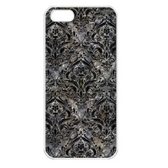 Damask1 Black Marble & Gray Stone (r) Apple Iphone 5 Seamless Case (white)