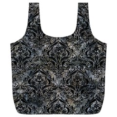 Damask1 Black Marble & Gray Stone (r) Full Print Recycle Bags (l)