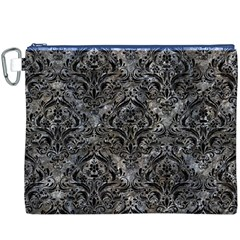 Damask1 Black Marble & Gray Stone (r) Canvas Cosmetic Bag (xxxl)