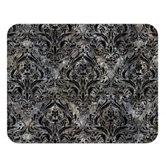 Damask1 Black Marble & Gray Stone (r) Double Sided Flano Blanket (large)