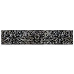 Damask1 Black Marble & Gray Stone (r) Flano Scarf (small)