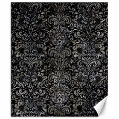 Damask2 Black Marble & Gray Stone Canvas 20  X 24