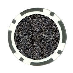 Damask2 Black Marble & Gray Stone Poker Chip Card Guard
