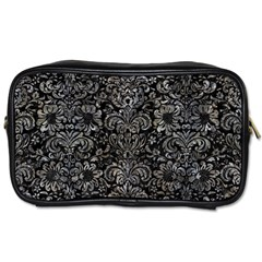 Damask2 Black Marble & Gray Stone Toiletries Bags 2 Side