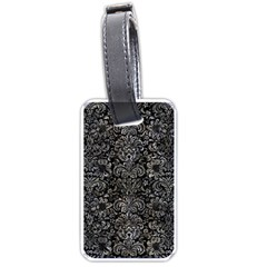 Damask2 Black Marble & Gray Stone Luggage Tags (two Sides)
