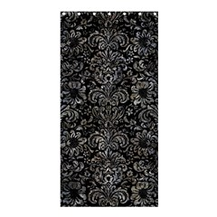 Damask2 Black Marble & Gray Stone Shower Curtain 36  X 72  (stall)
