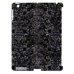 Damask2 Black Marble & Gray Stone Apple Ipad 3/4 Hardshell Case (compatible With Smart Cover)